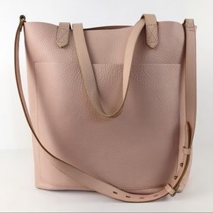 Madewell The Medium Transport Tote Pink 100% Leather Bag